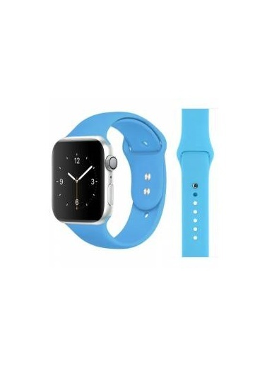 Jacobson Apple Watch Mavi Kayış Silikon Kordon 42/44 mm Mavi